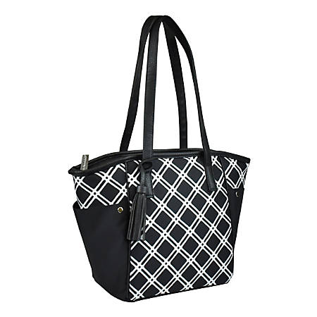 Rachael Ray Insulated Monroe Meal Carrier, Black/White