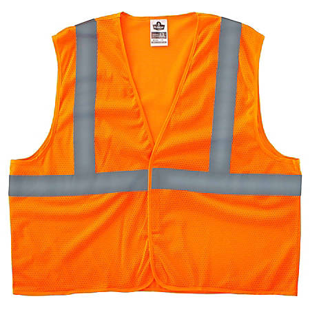 Ergodyne GloWear Safety Vest, Super Econo, Type-R Class 2, X-Small, Orange, 8205HL