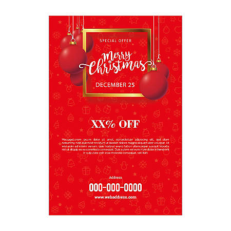 Single-Sided Flyers, Red Texture, Vertical