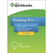 QuickBooks Desktop Pro 2019 For 3