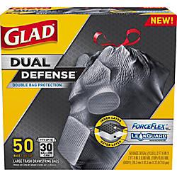Glad Dual Defense Drawstring Large Trash