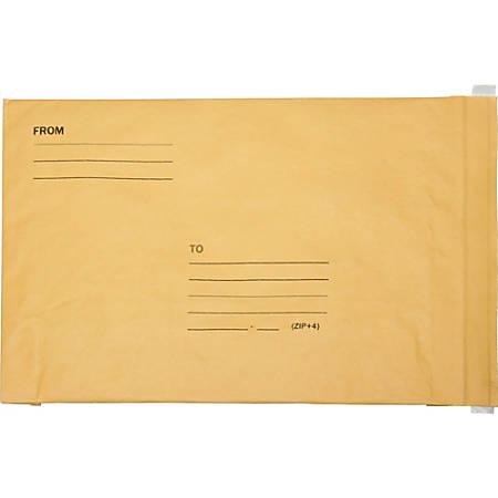 "SKILCRAFT® Kraft Lightweight Cushioned Mailers, 14 1/4"" x 20"", Kraft, Pack Of 50 (AbilityOne 8105-00-117-9886)"