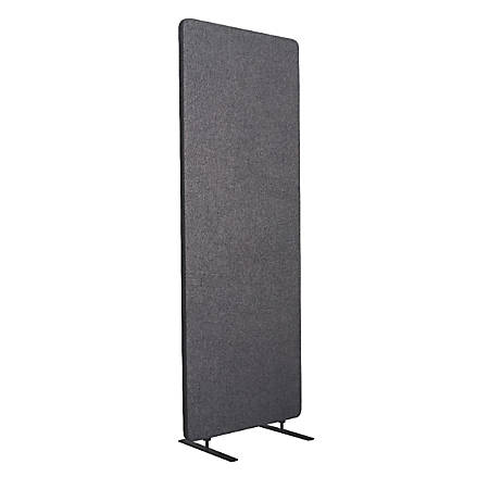 """Luxor RECLAIM Acoustic Privacy Expansion Panel, 66""""H x 24""""W, Slate Gray"""