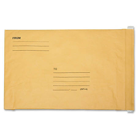 """SKILCRAFT® Lightweight Paper-Cushioned Mailers, 10 1/2"""" x 16"""", Kraft, Pack Of 100 (AbilityOne 8105-00-281-1436)"""