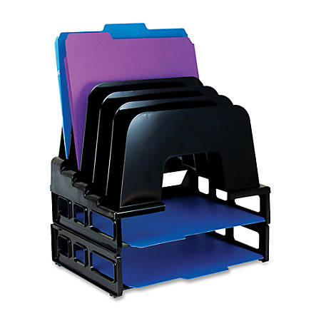 OIC® Tray/Incline Sorter Combo, Black