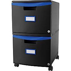 Storex 2 Drawer Mobile File Cabinet