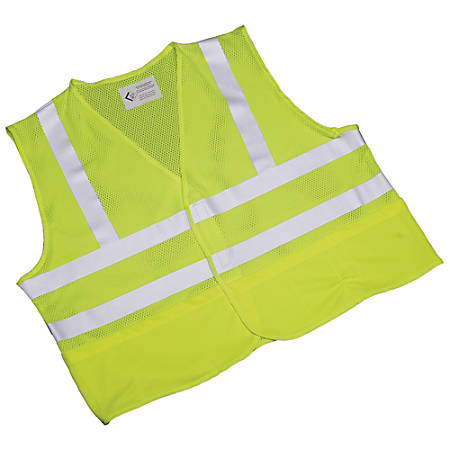 SKILCRAFT® 360? Visibility Safety Vest, Large, Yellow/Lime (AbilityOne 8415-01-598-4870)