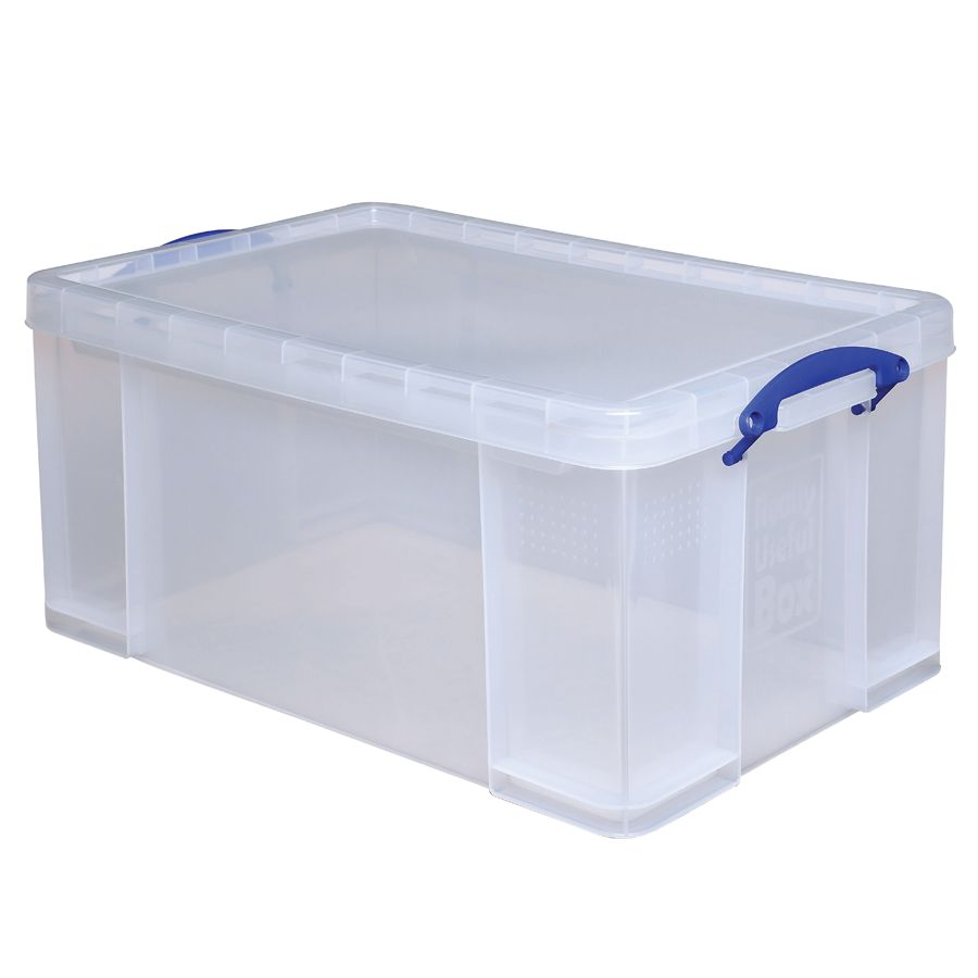 Superbe Really Useful Box Plastic Storage Box 64 Liters 28 X 17 516 X 12 14 Clear  By Office Depot U0026 OfficeMax