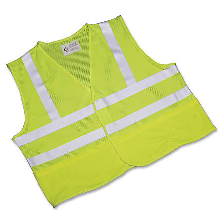 SKILCRAFT® 360? Visibility Safety Vest, X-Large, Yellow/Lime (AbilityOne 8415-01-598-4870)