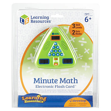 "Learning Resources® Minute Math Electronic Flash Card™, 5"" x 5"", Grades 1-3"