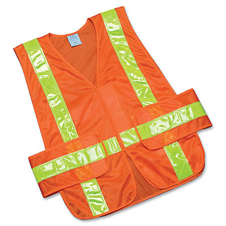 SKILCRAFT® 360? Visibility Safety Vest, One Size, Orange/Yellow (AbilityOne 8415-01-598-4873)