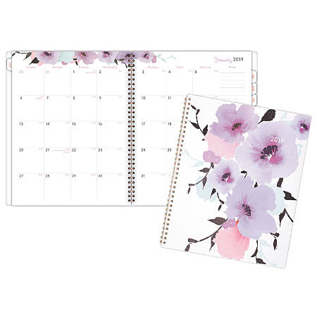 "Cambridge® Monthly Planner, 8 1/2"" x 11"", Mina, January 2019 to December 2019"