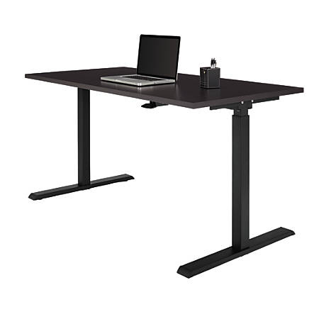 Realspace® Magellan Pneumatic Stand-Up Height-Adjustable Desk, Espresso