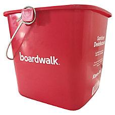 Boardwalk Sanitizing Bucket 6 Qt Red