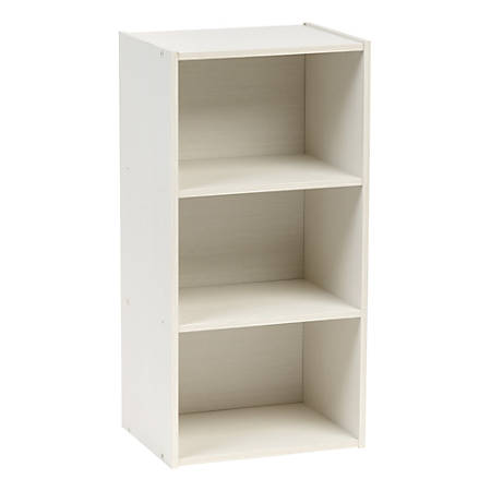 "IRIS 29""H 3-Cube Modular Storage Shelf, White"