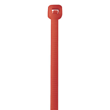 "Office Depot® Brand Color Cable Ties, 11"", Fluorescent Red, Case Of 1,000"