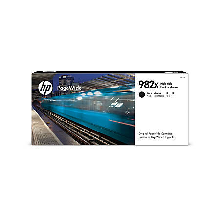 HP 982X High-Yield Black Original PageWide Ink Cartridge (T0B30A)