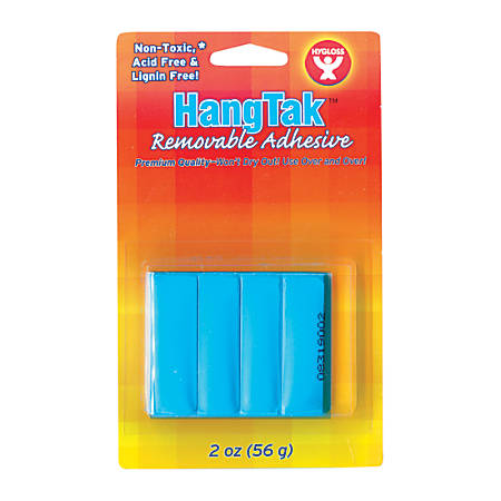 Hygloss HangTak™ Reusable Adhesive, 2 Oz, Blue, Pack Of 12