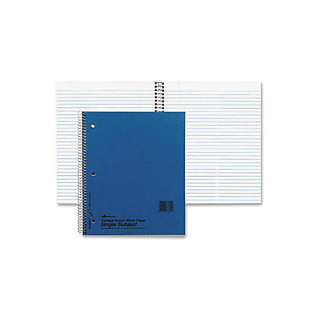 "Rediform Xtreme Cover 150-sht 3-subj Notebook - 150 Sheets - Coilock - 16 lb Basis Weight - 6"" x 9 1/2"" - White Paper - Blue Cover - Divider - 1Each"