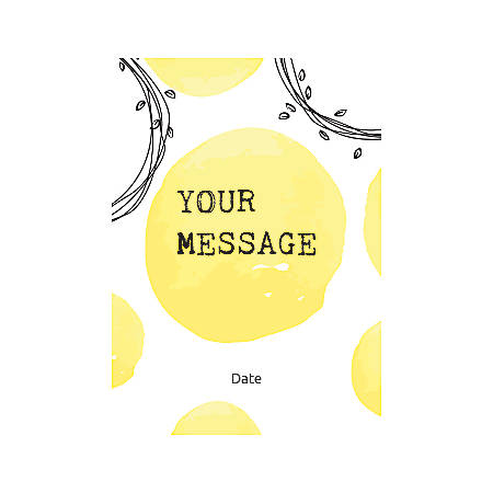 Flat Photo Greeting Card, Abstract Yellow, Vertical