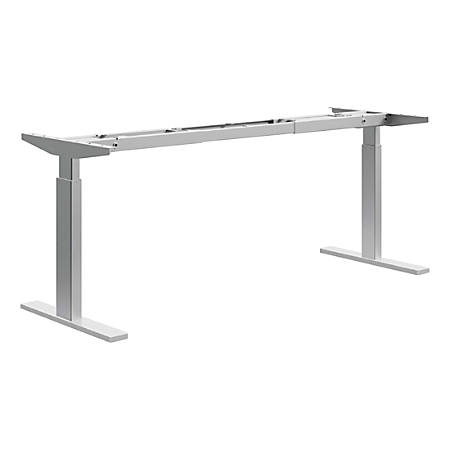 HON® Sit-to-Stand Desk Base, 2-Stage, Nickel