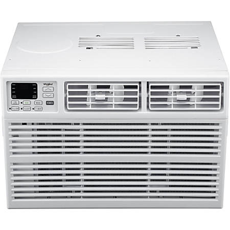 """Whirlpool Energy Star Window-Mounted Air Conditioner With Remote, 10,000 BTU, 14 3/4""""H x 21 1/2""""W x 19 13/16""""D, White"""