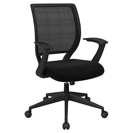 Office Star™ Work Smart Mesh Task Chair, Jet/Black