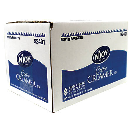 N'Joy® Single-Serve Non-Dairy Coffee Creamer Packets, Box Of 500