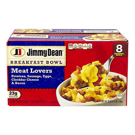 Jimmy Dean Meat Lovers Breakfast Bowls, 56 Oz, Box Of 8 Bowls