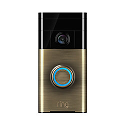 Ring Video Doorbell, Antique Brass