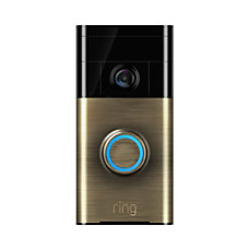 Ring Video Doorbell Antique Brass