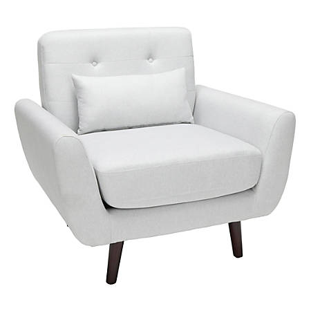 OFM 161 Collection Mid-Century Modern Tufted Accent Chair, Light Gray