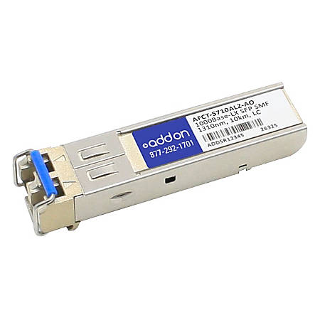 AddOn Avago AFCT-5710ALZ Compatible TAA Compliant 1000Base-LX SFP Transceiver (SMF, 1310nm, 10km, LC)