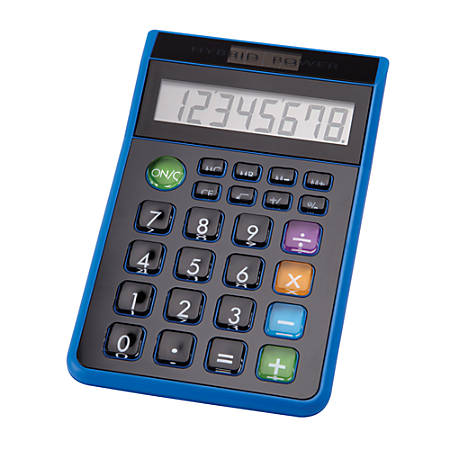 DD-612 Hybrid Desktop Calculator, Assorted Colors (No Color Choice)