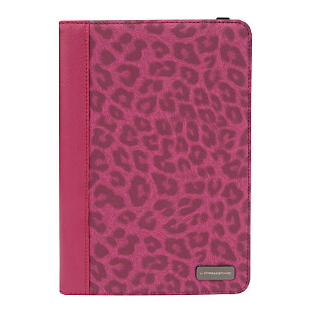 """Lifeworks The Fur Coat Fashion Folio Case for 7 - 8"""" Tablets, 7 1/2"""" x 4"""" x 3/4"""", Pink"""