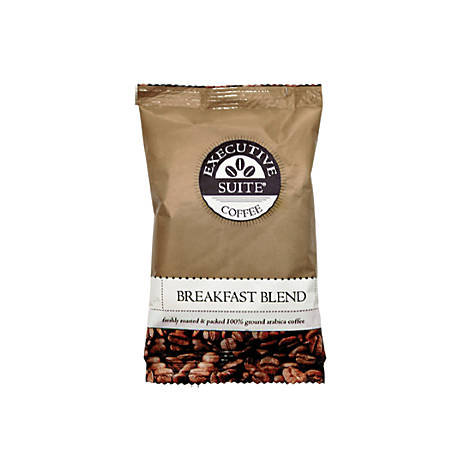 Executive Suite® Breakfast Blend Medium Roast Coffee Packets, 1.5 Oz, Box Of 42