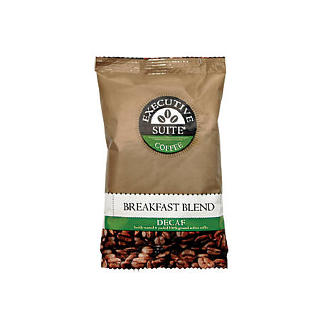 Executive Suite® Breakfast Blend Decaffeinated Coffee Single-Serve Packets, 1.5 Oz, Carton Of 42