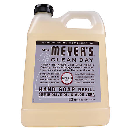 Mrs. Meyer's Clean Day Liquid Hand Soap, Lavender Scent, 33 Oz, Pack Of 6 Bottles