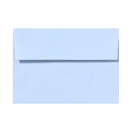 """LUX Invitation Envelopes With Peel & Press Closure, A7, 5 1/4"""" x 7 1/4"""", Baby Blue, Pack Of 50"""