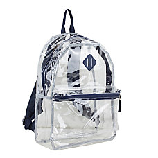 Eastsport Clear PVC Backpack Navy With