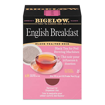 Bigelow English Breakfast Tea Pods, 1.9 Oz, Box Of 18 Pods