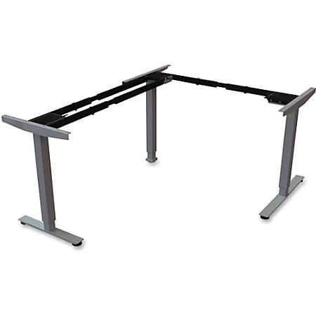 Lorell® Quadro Electric Sit-To-Stand Desk 2-Tier Third Leg, Black