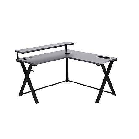 Z Line Designs 54 W L Shaped Desk Gray Office Depot