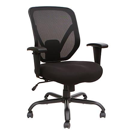Lorell® SOHO Big & Tall Mesh Back Chair, Black