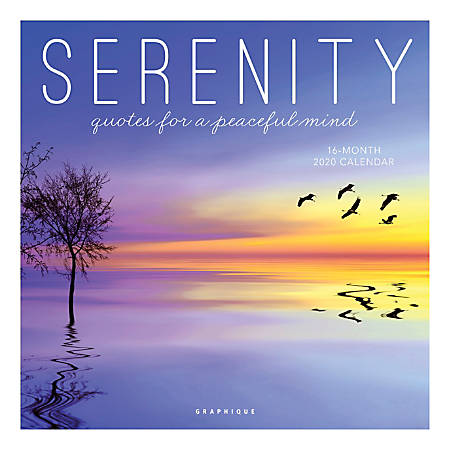 """Graphique de France Monthly Wall Calendar, 12"""" x 12"""", FSC® Certified, Serenity, January to December 2020"""