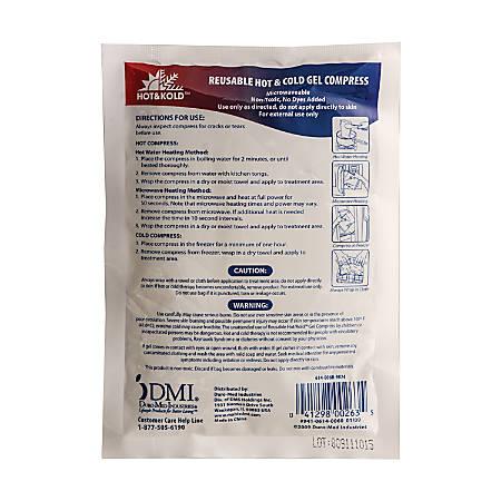 DMI® Hot & Kold™ Reusable Gel Compresses, White, 2 Compresses Per Box, Pack Of 12 Boxes