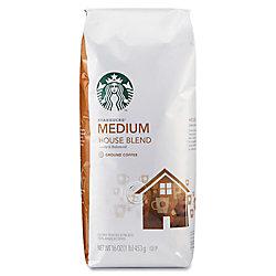 Starbucks® Preground Drip Brew Coffee, House Blend, 16 Oz. Bag