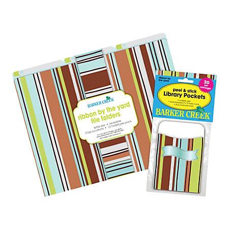 "Barker Creek Folder/Pocket Set, 9"" x 12"", Ribbon By The Yard"