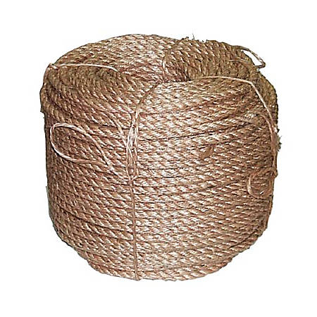 Manila Ropes, 3 Strands, 1 in x 100 ft