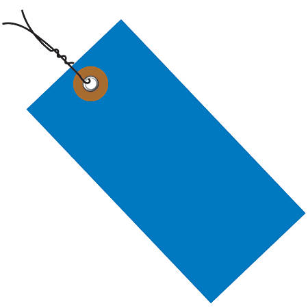 """Office Depot® Brand Tyvek® Prewired Shipping Tags, 5 3/4"""" x 2 7/8"""", Blue, Pack Of 100"""
